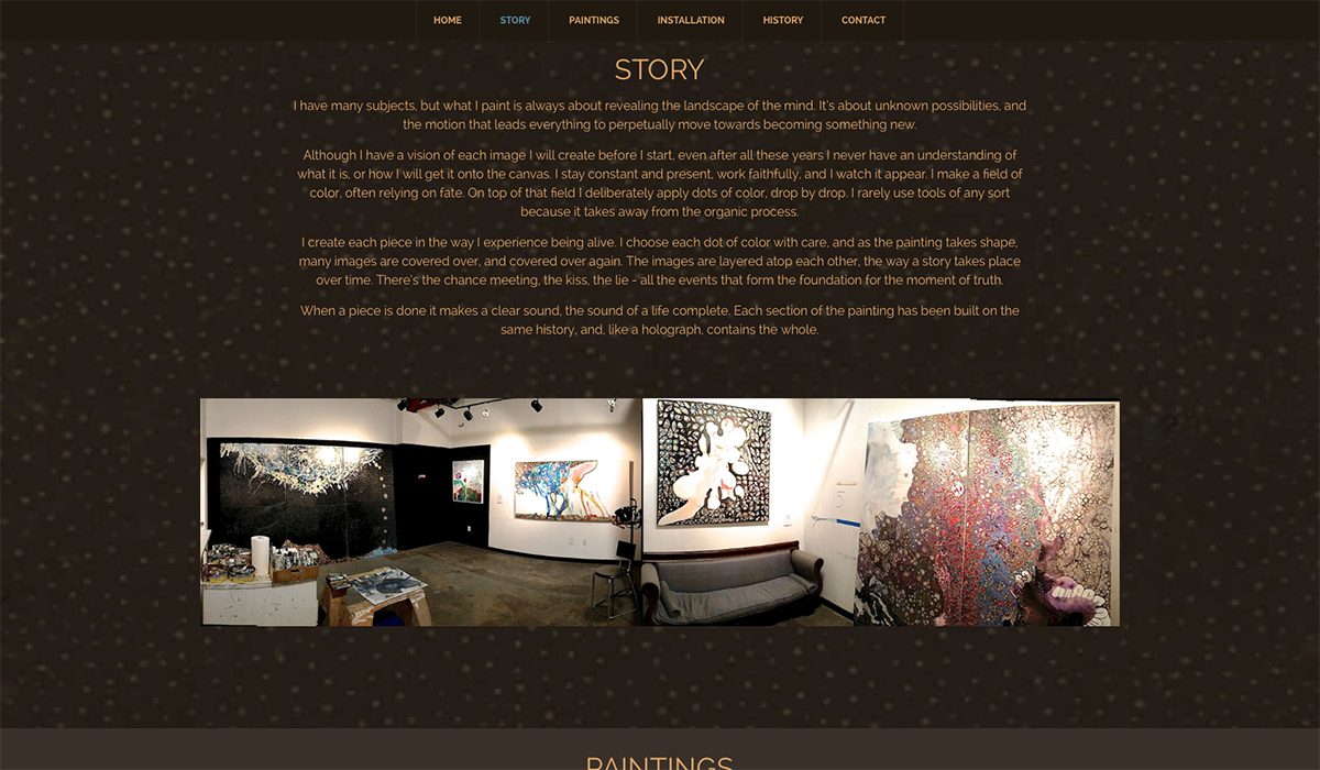 Pixel and Spoke - Website design for artists.
